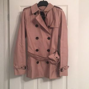 Coach Pink Taupe short Trench